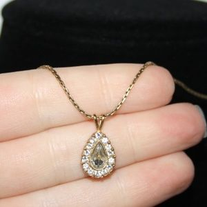 """Vintage gold and rhinestone necklace 16"""""""